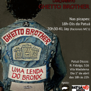 "Lançamento da HQ ""Ghetto Brother"" + KL Jay, 01-04 (SP)"